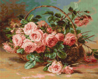 Basket of Roses Cross Stitch Kit by Luca-s