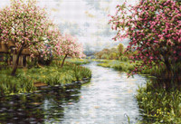 Spring Landscape Cross Stitch Kit by Luca-S