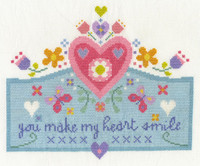 You Make My Heart Smile Cross Stitch Kit By DMC