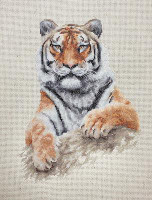 Tiger Cross Stitch Kit by Luca-s