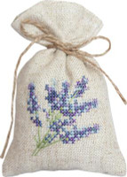 Lavendar Bag Cross Stitch Kit by Luca-S