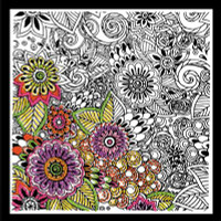 Zenbroidery - Bold Floral Cotton Fabric