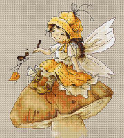 Toadstool Fairy Cross Stitch Kit by Luca-S