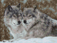 Two Wolves Cross Stitch Kit by Luca-S