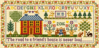 Friends House Cross Stitch Kit By Bothy Threads