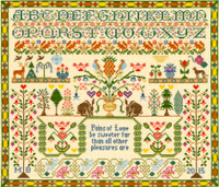 Pains of Love Cross Stitch Kit By Bothy Threads