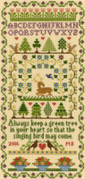 Green Tree Cross Stitch Kit By Bothy Threads
