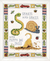 Snakes and Snails Cross Stitch Kit by Design Works