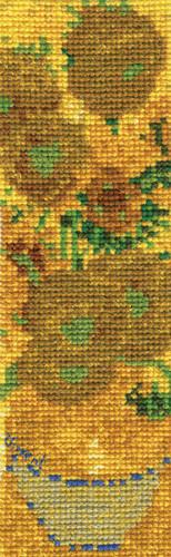 Sunflowers Bookmark Cross Stitch Kit By DMC