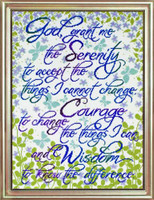 Serenity Prayer Floral Cross Stitch Kit By Design Works