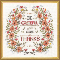 Be Grateful Cross Stitch Kit by Design Works