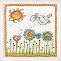 Fly Away Birdie Cross Stitch Kit by Design Works
