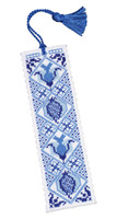 Delft Blue Bookmark Cross Stitch Kit by Textile Heritage