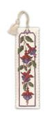Fuchsias Bookmark Cross Stitch Kit by Textile Heritage