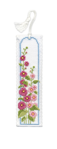 Hollyhocks Bookmark Cross Stitch Kit by Textile Heritage