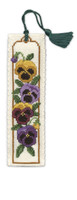 Pansies Bookmark Cross Stitch Kit by Textile Heritage