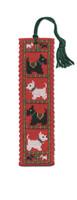 Scotties & Westies Bookmark Cross Stitch Kit by Textile Heritage