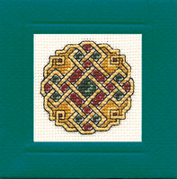 Celtic Jewel Miniature Card Cross Stitch Kit by Textile Heritage