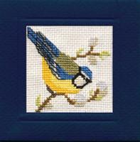 Bluetit Miniature Card Cross Stitch Kit by Textile Heritage