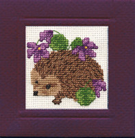 Hedgehog Miniature Card Cross Stitch Kit by Textile Heritage