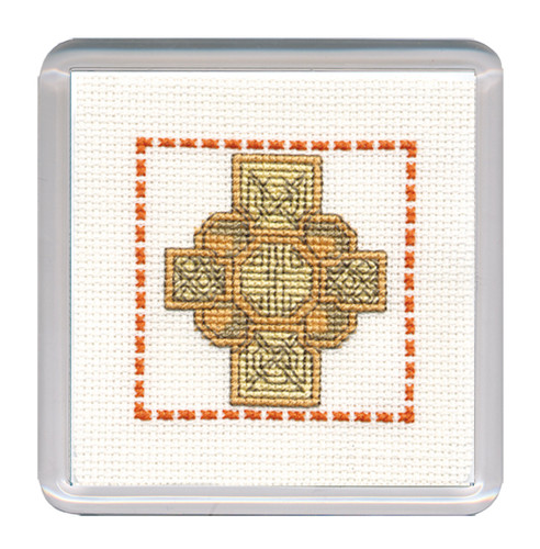 Celtic Cross Coaster Cross Stitch Kit by Textile Heritage
