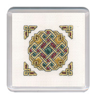 Celtic Jewel Coaster Cross Stitch Kit by Textile Heritage