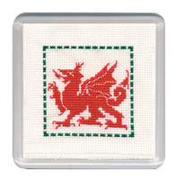 Welsh Dragon Coaster Cross Stitch Kit by Textile Heritage