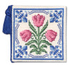 Delft Tulips Needle Case Cross Stitch Kit by Textile Heritage