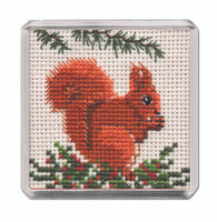 Red Squirrel Magnet Cross Stitch Kit by Textile Heritage