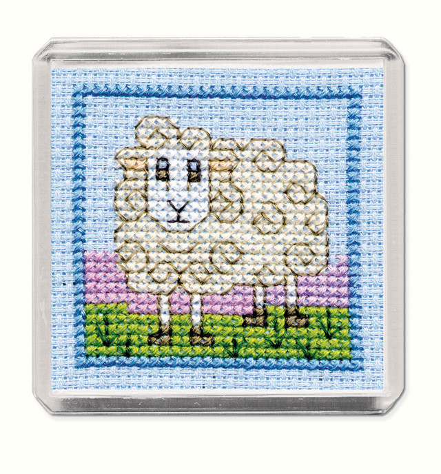 PUFFINS MAGNET CROSS STITCH KIT BY TEXTILE HERITAGE