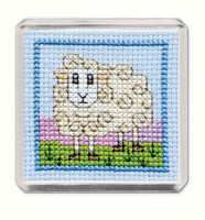 Wee Woolly Shhep Magnet Cross Stitch Kit by Textile Heritage