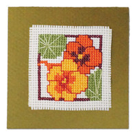 Nasturtiums Keepsake Cross Stitch Kit by Textile Heritage