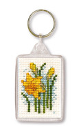 Daffodil Keyring Cross Stitch Kit by Textile Heritage