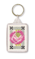 Mackintosh Rose Keyring Cross Stitch Kit by Textile Heritage