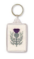 Scottish Thistle Keyring Cross Stitch Kit by Textile Heritage