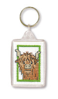 Wee Hieland Coo Keyring Cross Stitch Kit by Textile Heritage