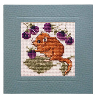 Dormouse Miniature Card Cross Stitch Kit by Textile Heritage