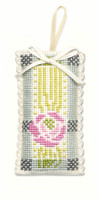 Mackintosh Rose Sachet Cross Stitch Kit by Textile Heritage