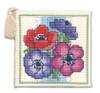 Anemones Needle Case Cross Stitch Kit by Textile Heritage