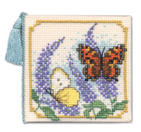 Butterflies & Buddleia Needle Case Cross Stitch Kit by Textile Heritage
