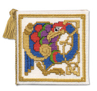 Celtic Birds Needle Case Cross Stitch Kit by Textile Heritage