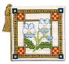 Medieval Garden Needle Case Cross Stitch Kit by Textile Heritage