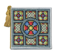 Stained Glass Window Needle Case Cross Stitch Kit by Textile Heritage