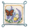Butterflies & Buddleia Pin Cushion Cross Stitch Kit by Textile Heritage
