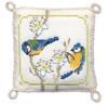 Bluetits Pin Cushion Cross Stitch Kit by Textile Heritage