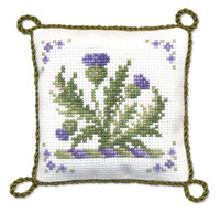 Victorian Thistles Pin Cushion Cross Stitch Kit by Textile Heritage