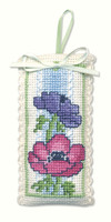 Anemones Sachet Cross Stitch Kit by Textile Heritage