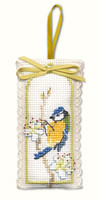 Bluetit Sachet Cross Stitch Kit by Textile Heritage
