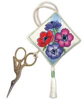 Anemones Scissor Keep Cross Stitch Kit by Textile Heritage
