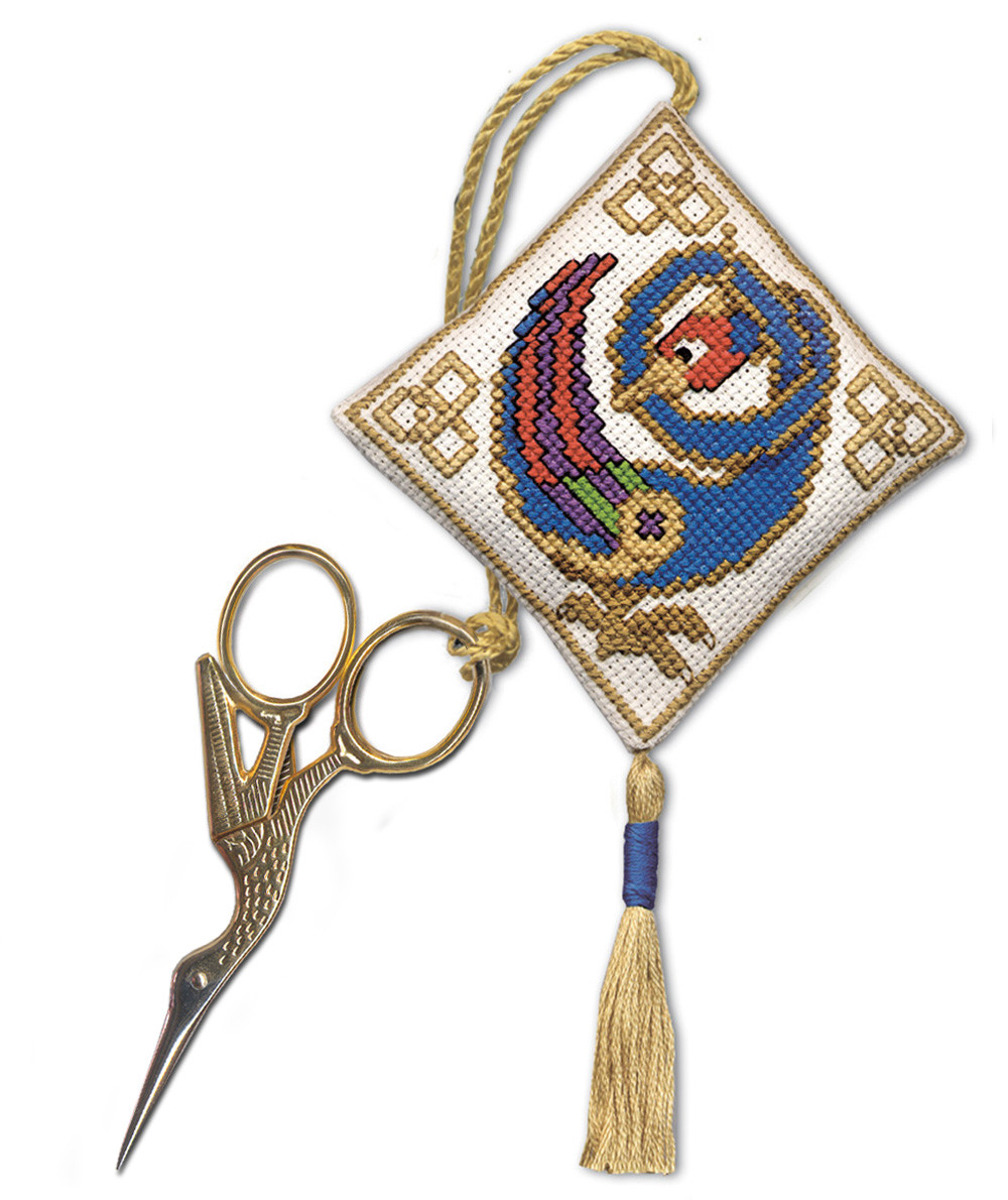 Lily of the Valley Textile Heritage Scissor Keep Cross Stitch Kit